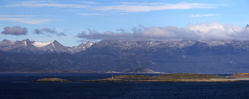 View Across Beagle Channel to Sampaio Mts