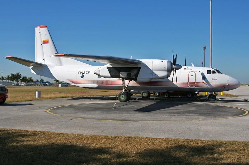 YV1275 Antononv An-26T c/n 7310607 Tamiami/KTMB/TMB 05-12-08