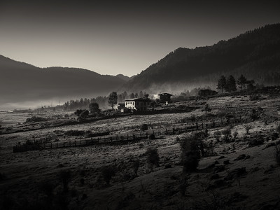 Phobjikha Valley before Sunrise