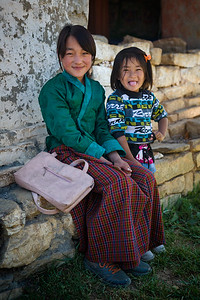 Two young girls from the Tang Valley