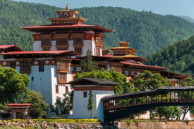 A view of the Punakha Dzong
