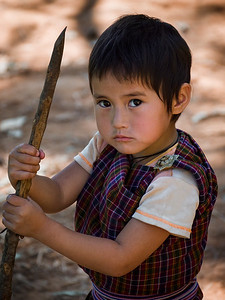 A child in Punakha