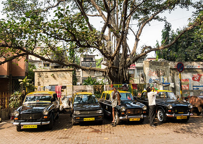 Taxi stand, Bombay