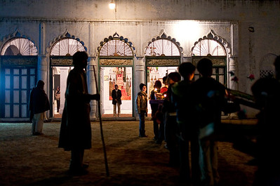 Outside of the Baradari in the Qil'a of Bilehra as the Mehndi procession lines up to enter.