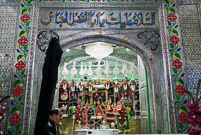 The Shrine of Hazrat Abul Fazl al-Abbas ibn Ali ibn Abi Talib in Lucknow which is visited by Shia Muslims during Moharram.