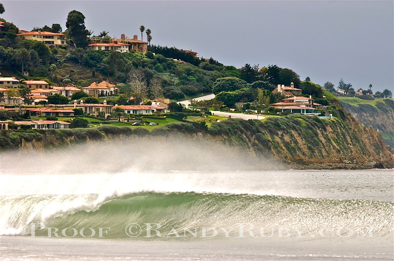 """Paula's Wave.~                       This shot is named after my good buddy """"Paula Demerjian""""   This perfect wave has Palos Verdes in the background. It's rare to see a wave this good around here.<br /> Taken: 2-18-2011"""