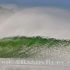 Green Wave Textures.~               A big offshore wind,combined with big surf. It's the wind that's making the bumps in the wave. <br /> Taken: 2-18-2011