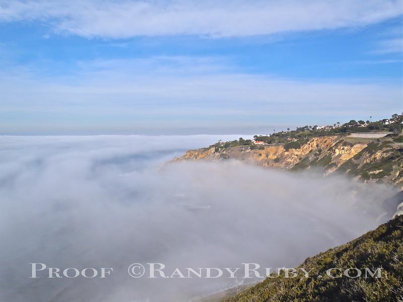 Fog Blanket over the Cove. Palos Verdes.<br /> Taken: 12/11/10