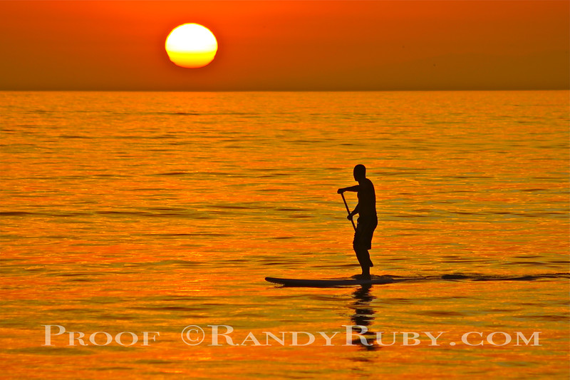 """SOLO DREAMER............~SUP = """"Stand Up Paddle Board""""     Sunset<br /> taken: 7/13/13"""