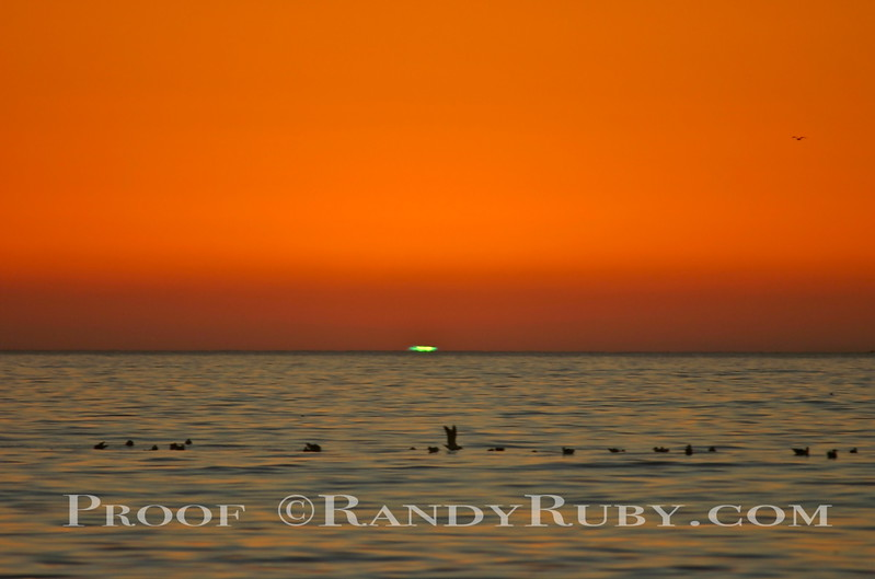 The Green Flash.~      A Rare Site.<br /> Taken: 11-15-10