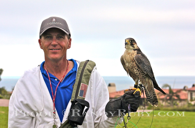 Scott Timmons at Terranea Resort with his Falcon.~<br /> Taken: 7/21/11