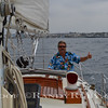 "Randy Ruby Sailing ""Jim Millers"" Sailboat.  Photo:Jim Miller~"