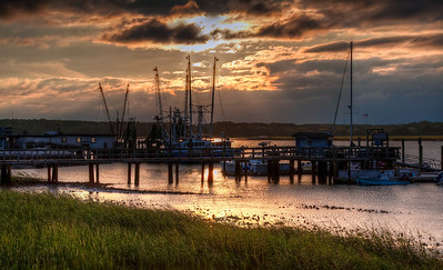 fishing-boats-sunset