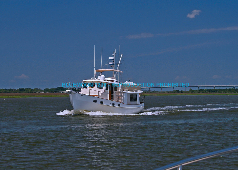 Boat On Intracoastal Waterway