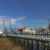 "Shrimp boats docked at Shem Creek SC with bright blue sky and wispy clouds in background.<br /> bluemoon1236;  <a href=""http://www.bluemoon1236.smugmug.com"">http://www.bluemoon1236.smugmug.com</a> ,Bluemoon Fine Photography"