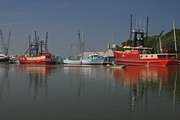 Shrimp boats docked along an inlet into the intracoastal waterway in South Carolina.   bluemoon1236; www.bluemoon1236.smugmug.com ,Bluemoon Fine Photography