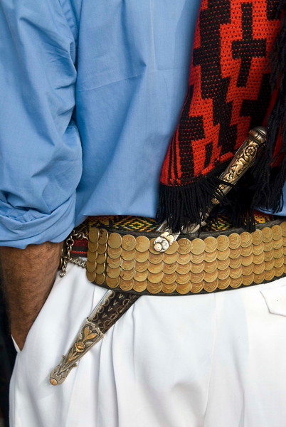 Gaucho with facón (dagger) tucked into belt, Montevideo, Uruguay