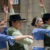 Folk dancers perform at Plaza Constitución, Montevideo, Uruguay