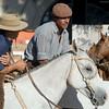 Gauchos wait to enter rodeo during Semana Criolla, Montevideo, Uruguay