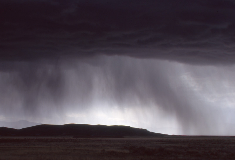 Storm clouds and rain on the Altiplano, Arequipa, Peru