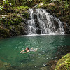 Swimming at Mayflower Bocawina National Park, Stann Creek, Belize