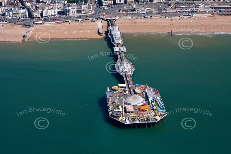 Brighton Pier from the Air.