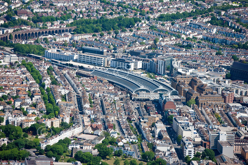 Brighton railway station from the Air.