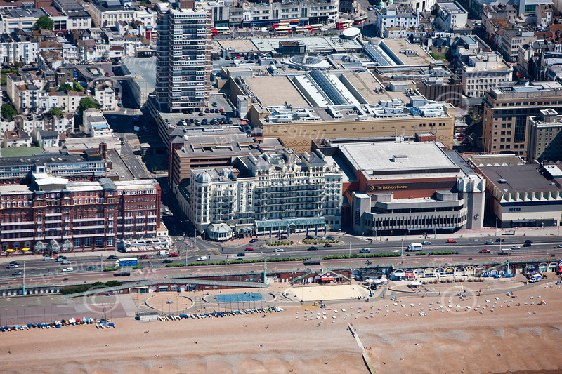 The Grand Hotel and The Brighton Centre from the Air.