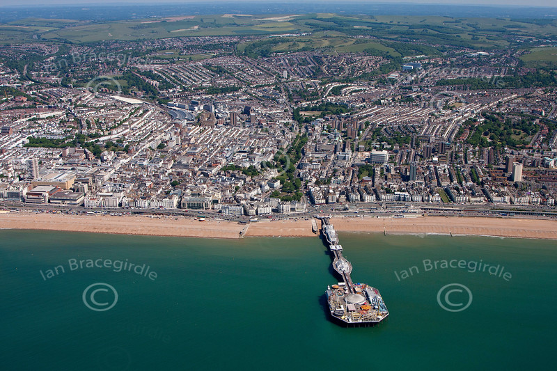 Aerial photo of Brighton.