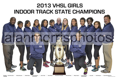 2013 Girls Indoor Track State Champions