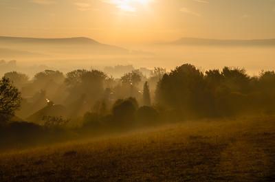 Sunrise over Lewes