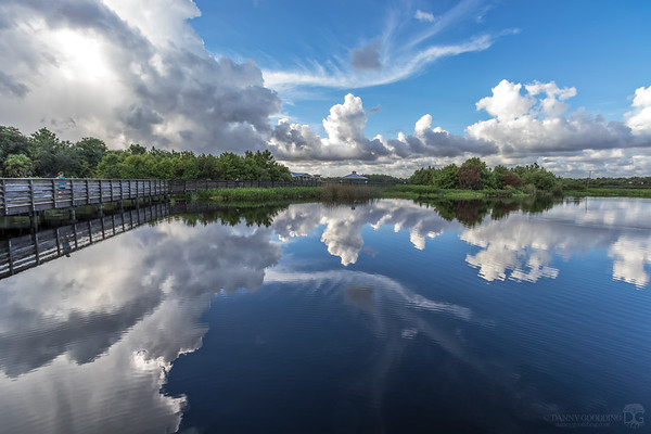 Afternoon showers at Green Cay Wetlands