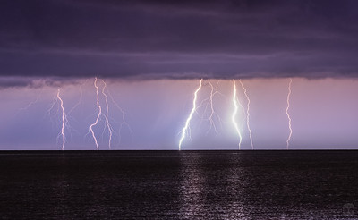 Lightning over the Gulf