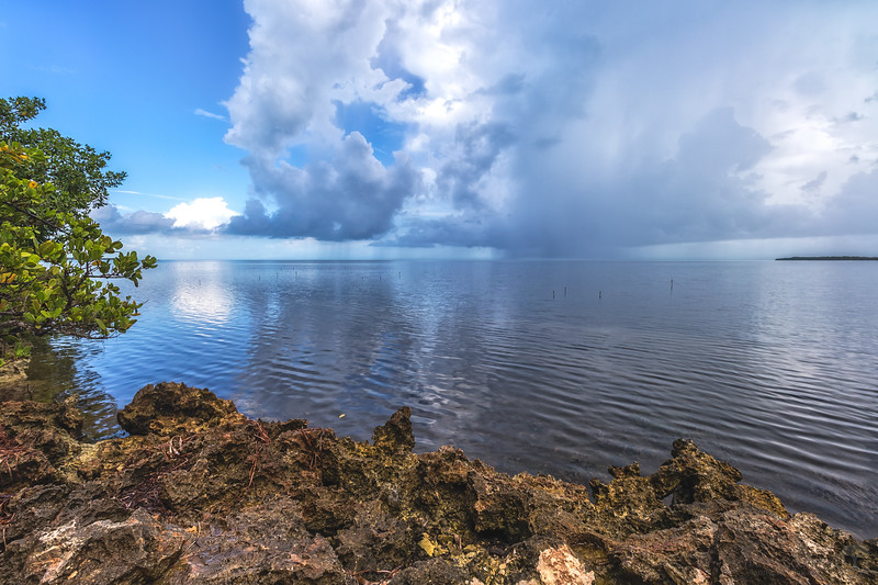 Afternoon showers in the Florida Keys
