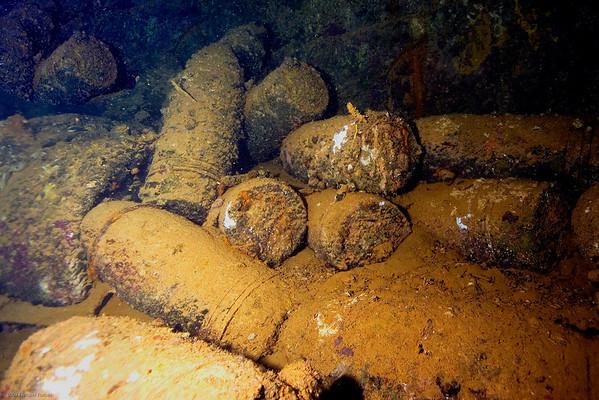 bombs, hold #1 Fujikawa Maru