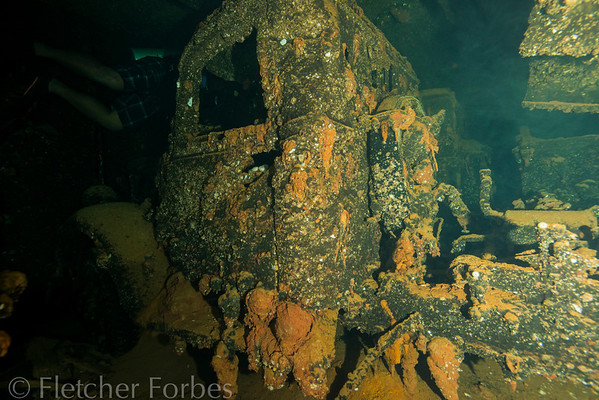 truck in hold C of Hoki Maru