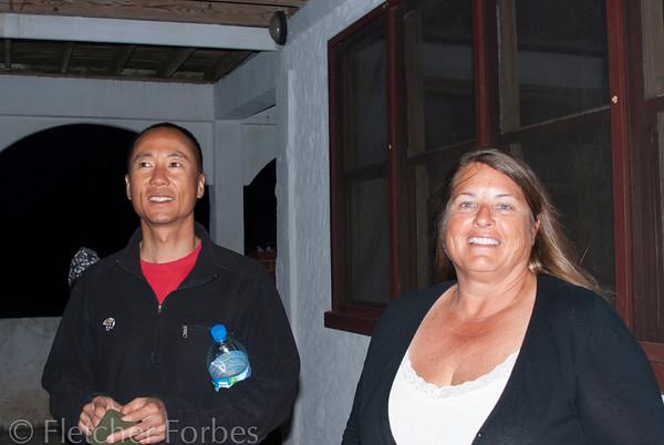 Tony Wu and Capt Brenda Cox