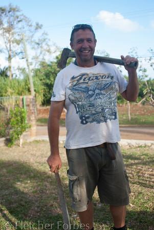 Ian Jones, vanilla and coconut farmer, plus co-owner of Vava'u Villa.