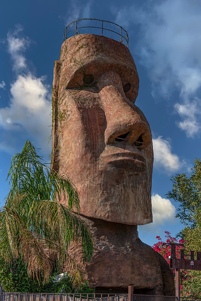 No, we did not end up on Easter Island. This was in a courtyard of a restaurant (closed).