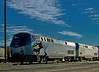 Long Day Ahead.<br /> <br /> Locomotive AMTK 56 is a GE Genesis-series P42DC.  This is the Amtrak Southwest Chief westbound.