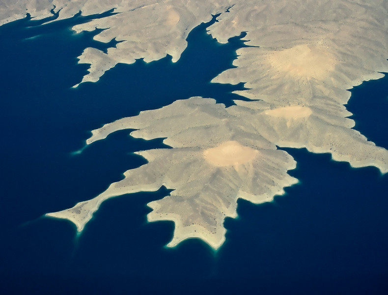 Aerial view of Lake Meade (October 1979)
