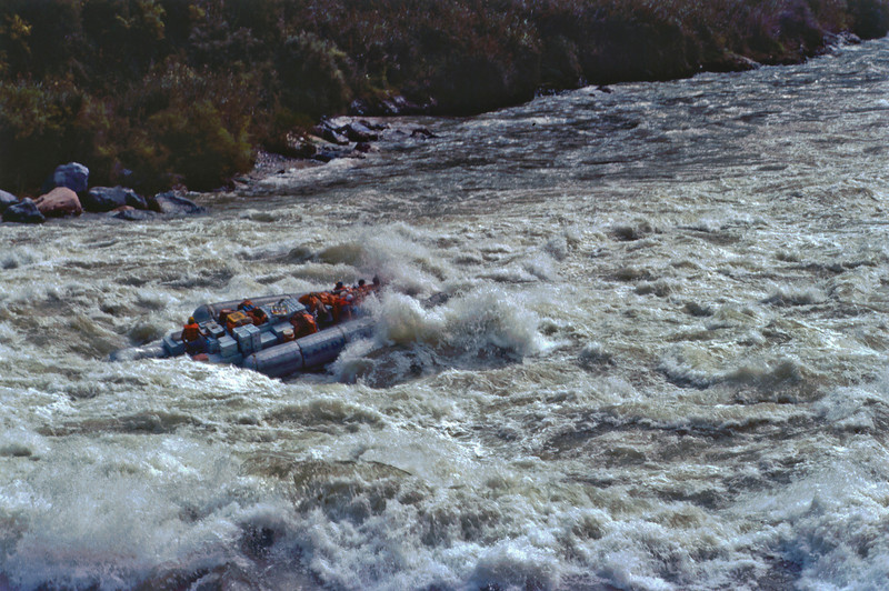 30' Raft in Lava Falls (Colorado River in the Grand Canyon, August 1980)