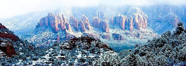 Crimson Cliffs in snow
