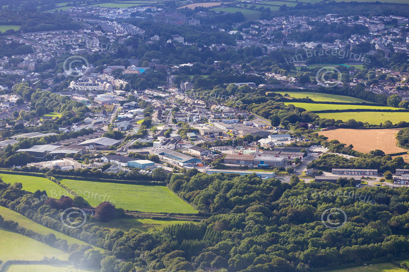 Aerial photo of Bodmin.