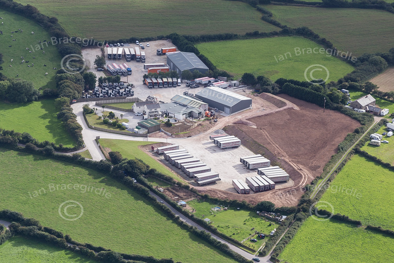 Aerial photo of Chacewater.