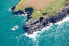 Aerial photo of the South West Coast Path.