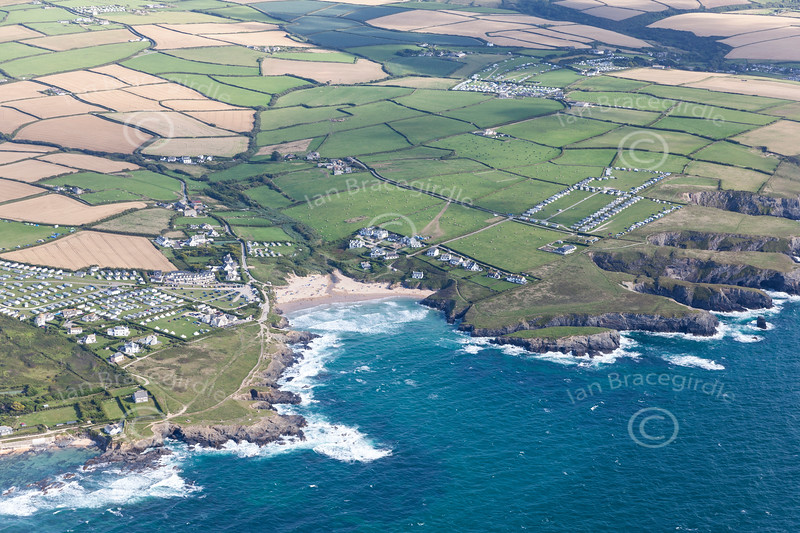 Aerial photo of Constantine Bay.