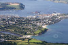 Aerial photo of Falmouth.