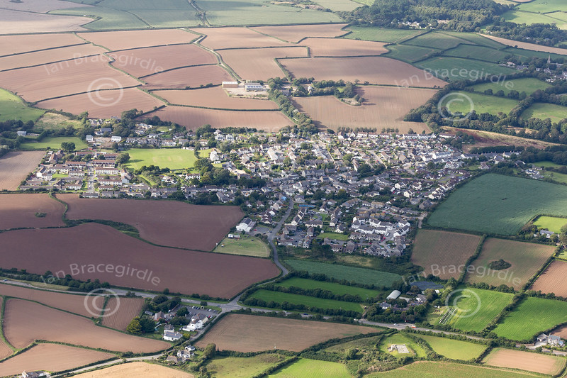Aerial photo of Goldsithney.