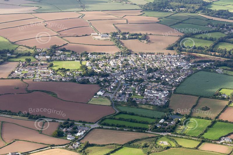 Aerial photo of Goldsithney.